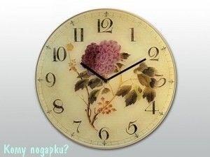 """Часы настенные с рисунком """"Цветок"""" - фото 43302"""