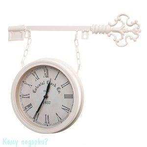 Часы настенные «Ключ», d=20 см, белые - фото 43305
