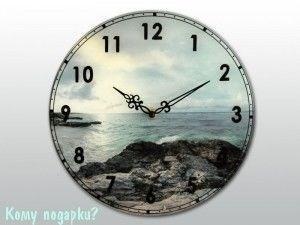 """Часы настенные с рисунком """"Море"""" - фото 43306"""