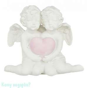 Фигурка «Два ангелочка с сердцем», коллекция «amore», h=11 см - фото 43365