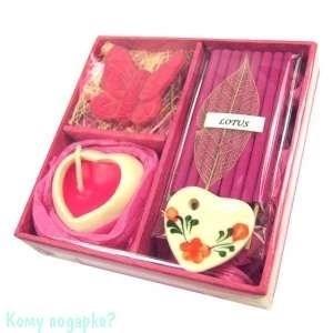 Набор ароматический, розовый, 9х9х3,5 см 001 - фото 43518