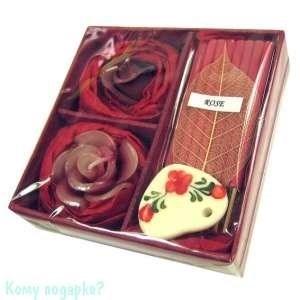 Набор ароматический, темно-красный, 9,5x9,5x3 см 001 - фото 43520