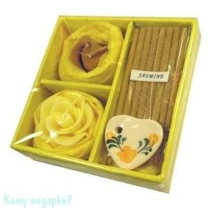 Набор ароматический, желтый, 9,5x9,5x3 см - фото 43527