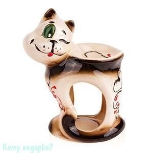 "Аромалампа ""Кот с сердечком"", керамика, 11х15 см - фото 43741"