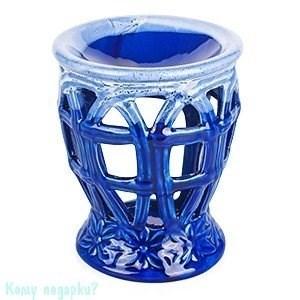 """Аромалампа керамическая """"Корзина"""", h=12 см, синяя - фото 43752"""