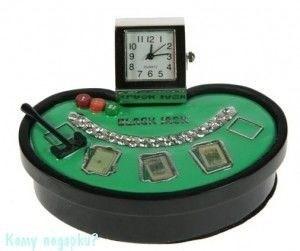 """Часы настольные """"Покер"""" - фото 43822"""