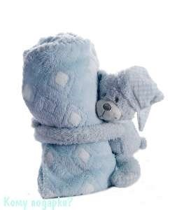 Плед с игрушкой, 100х75 см, медведь - фото 44140