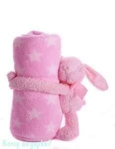 Плед с игрушкой, 100х75 см, заяц - фото 44144