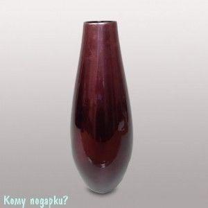 Ваза, h=40 см, бордовая - фото 44187