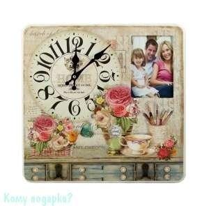 Коллаж-ключница с часами «Прованс», 40x40 см - фото 44195