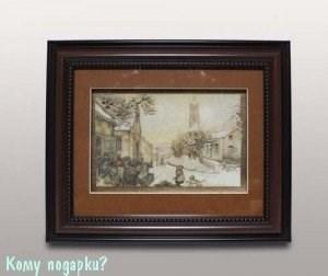 Панно 3D «Зимний город», 39х34 см - фото 44335