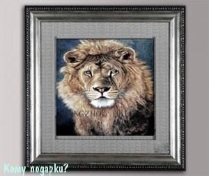 "Панно 3D ""Лев"", 49х49 см - фото 44344"