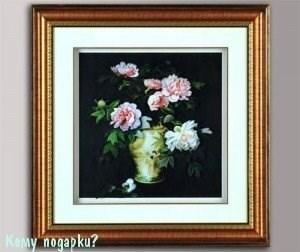 Панно 3D «Ваза с цветами», 49х49 см - фото 44692
