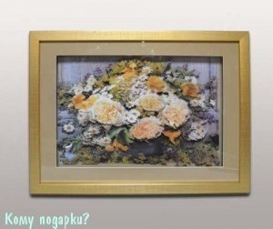 Панно 3D «Букет в вазе», 44х33 см - фото 44695
