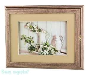 Ключница «Кувшины с цветами», 32x25,5x5 см, белая - фото 44703