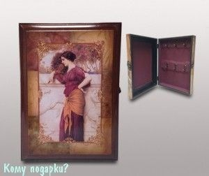 Ключница «Дама», 27x6,5x19,5 см - фото 44705