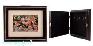 """Коллаж-ключница """"Садовые цветы"""" 3D, 29x24x5 см - фото 44774"""