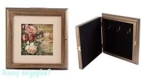 Коллаж-ключница 3D «Букет пионов», 25x25 см - фото 44803