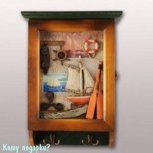 Ключница-коллаж «Морская романтика», 36х23х7 см - фото 44806