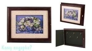 Коллаж-ключница 3D «Весенний букет», 32x26 см - фото 44809
