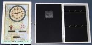 Коллаж-ключница с часами, 20x7x30 см - фото 44813