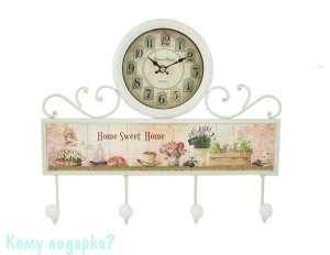 Коллаж-ключница с часами «Sweet Home», 40x35 см - фото 44814