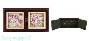 """Коллаж-ключница 3D """"Весенний букет"""", 40x22 см - фото 44816"""