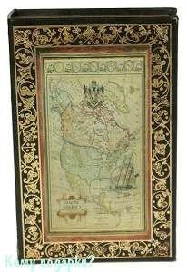 Шкатулка-фолиант «Старинная карта», 26x17x5 см - фото 45157