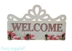 "Ключница ""Добро пожаловать"", 30x18 см - фото 45204"