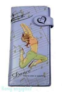 Кошелек женский, танец, сиреневый - фото 45886