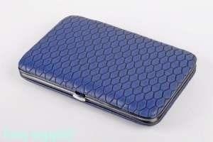 Набор маникюрный, 8 предметов, сталь, 15х10 см, синий - фото 46727