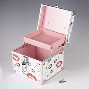 """Шкатулка """"Поцелуй"""" для бижутерии и косметики, пластик, 17х17х15 см - фото 46739"""