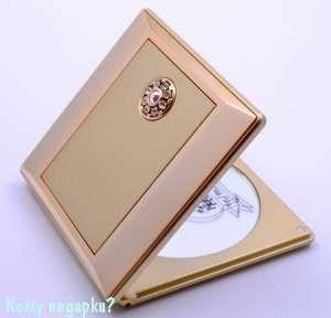 """Зеркало с кристаллами """"Gold"""", компактное, 5-кратное увеличение - фото 47449"""