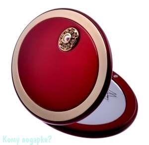 """Зеркало с кристаллами """"Red&Gold"""", компактное, 3-кратное увеличение - фото 47453"""