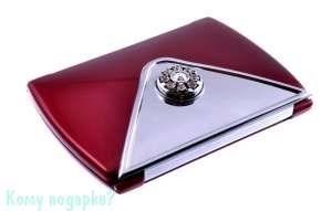 """Компактное зеркало """"Red"""", 3-кратное увеличение, с кристаллами - фото 47466"""