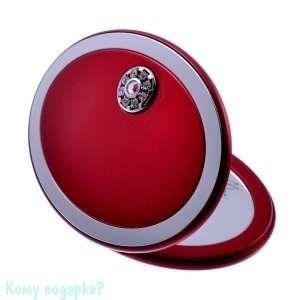 """Компактное зеркало """"Red"""", с кристаллами - фото 47598"""