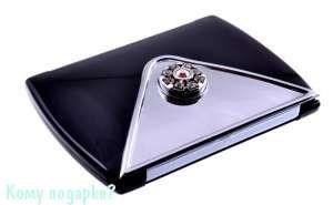 """Зеркало с кристаллами """"Black"""", компактное - фото 47601"""