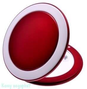 "Компактное зеркало ""Red&White"", 3-кратное увеличение - фото 47607"