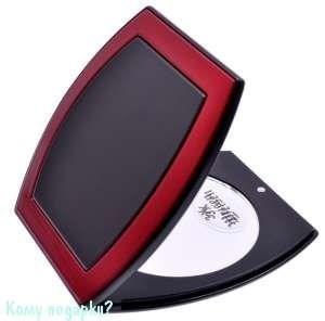 """Зеркало компактное """"Black&Red"""", 3-кратное увеличение - фото 47609"""