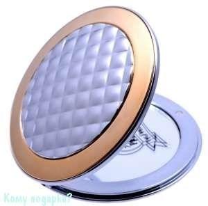 "Компактное зеркало ""Chrome&Gold"", с кристаллами - фото 47613"