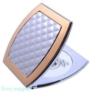 """Компактное зеркало с кристаллами """"Chrome&Gold"""", 3-кратное увеличение - фото 47628"""