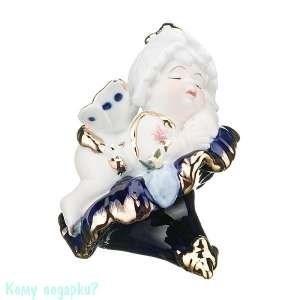 Статуэтка фарфоровая «Спящий ангел», h=11 см - фото 48464
