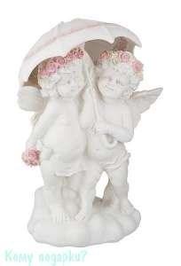 Фигурка «Два ангела с зонтиком», коллекция «amore», h=33 см - фото 48489