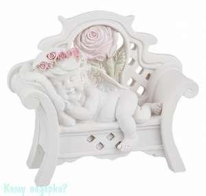 Фигурка «Спящий ангел на скамейке», коллекция «amore», h=16 см - фото 48495