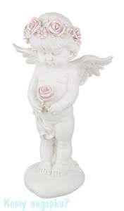 Фигурка «Девочка-ангелочек с розой», коллекция «amore», h=35 см - фото 48497