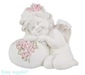 Фигурка «Мечтательный ангелочек», коллекция «amore», h=15 см - фото 48498