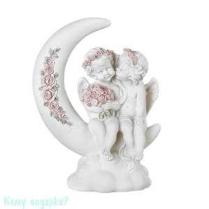 Фигурка «Влюбленные ангелы на месяце», коллекция «amore», 18x10x25 см - фото 48510