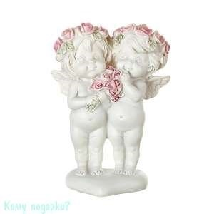 Фигурка «Девочки-ангелочки с букетиком», коллекция «amore», 8x4x13 см - фото 48512