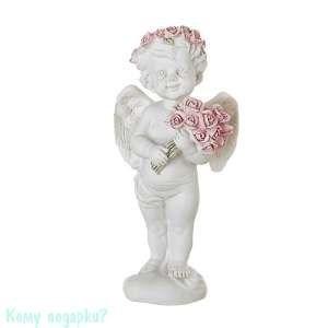 Фигурка «Ангел с букетом роз», коллекция «amore», 6x6x12 см - фото 48528