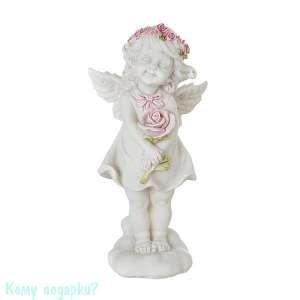 Фигурка «Девочка-ангел с розочкой», коллекция «amore», 8x7x16 см - фото 48532